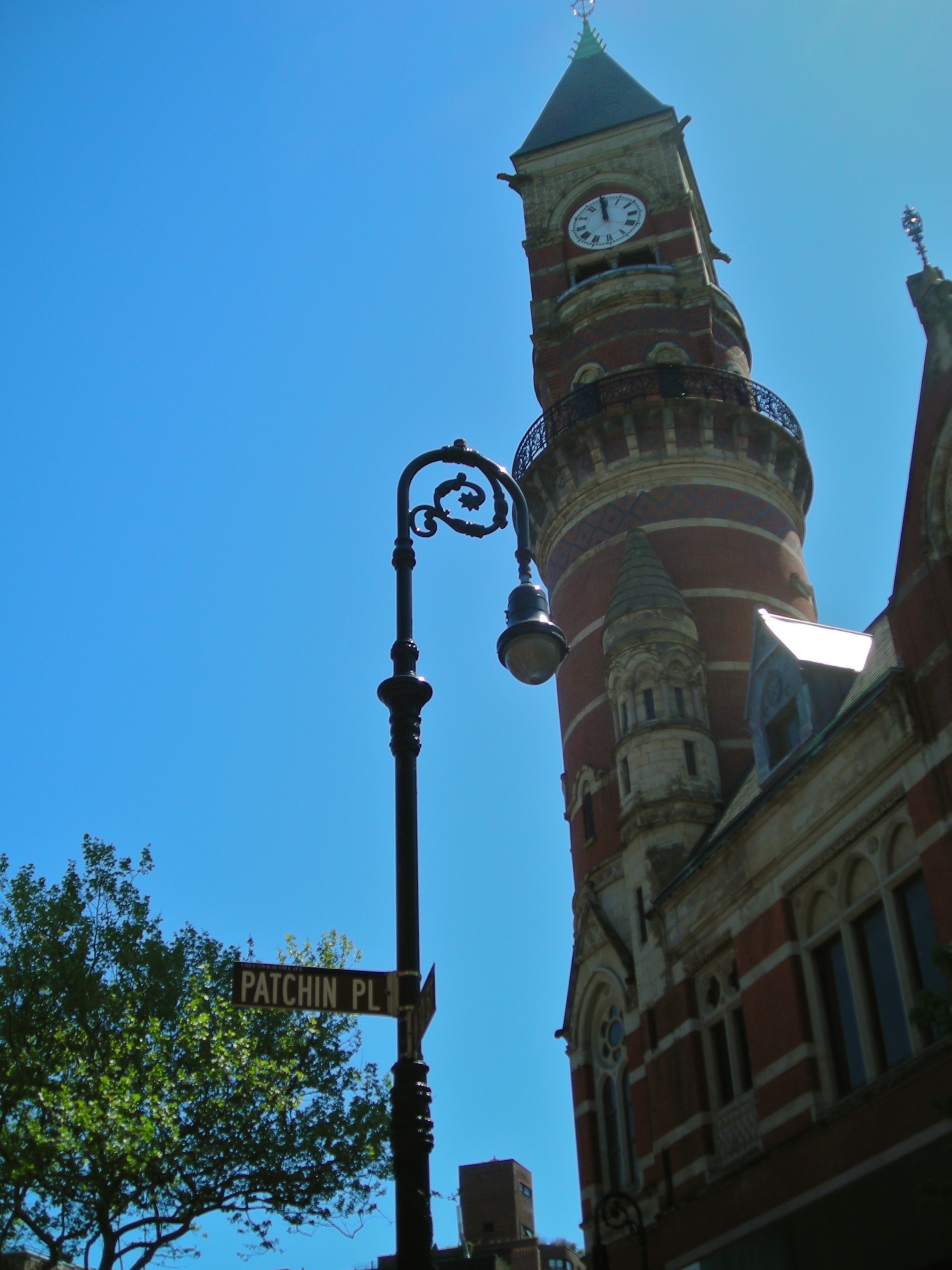 Patchin Place and the Clock Tower