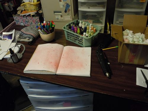 my art table this morning