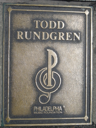 todd rundgren's plaque in philly