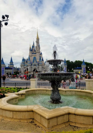 Fountain and Cinderella Castle